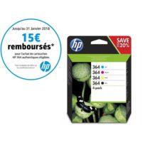 HP - N9J73AE - Pack de 4 Cartouches d'encre 364 4 couleurs