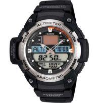 Casio - Sgw-400H-1BEF - Montre Boitier Acier Barometre Altimetre - Quartz Digitale - Multifonctions / Thermomètre Chrono - 5 Alarmes - Timer - Sport - Etanche 20ATM - Bracelet résine noir
