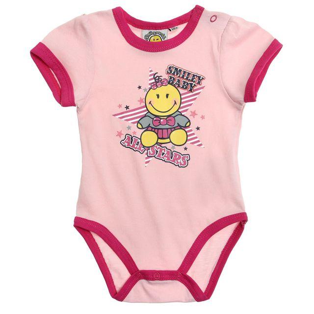 Smiley - Babies Girls Body Rose - pas cher Achat   Vente Sous-vêtements a88a460901e