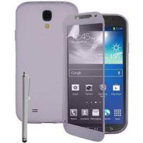 Vcomp - Housse Etui Coque silicone gel Portefeuille Livre rabat pour Samsung Galaxy S4 Active I9295/ I537 Lte + stylet - Transparent