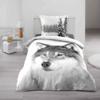 couette loup achat couette loup pas cher rue du commerce. Black Bedroom Furniture Sets. Home Design Ideas