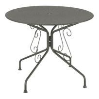 CARREFOUR - Table de jardin ronde romantique - Graphite
