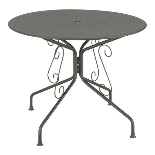 CARREFOUR - Table de jardin Romantique - Ø 95 cm - Acier - Blanc - 4 ...
