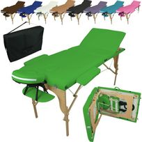 Linxor - Table De Massage Pliante 3 Zones en bois + Housse de Transport