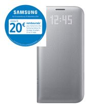 Samsung - LED View Cover pour Galaxy S7 Edge - Argent