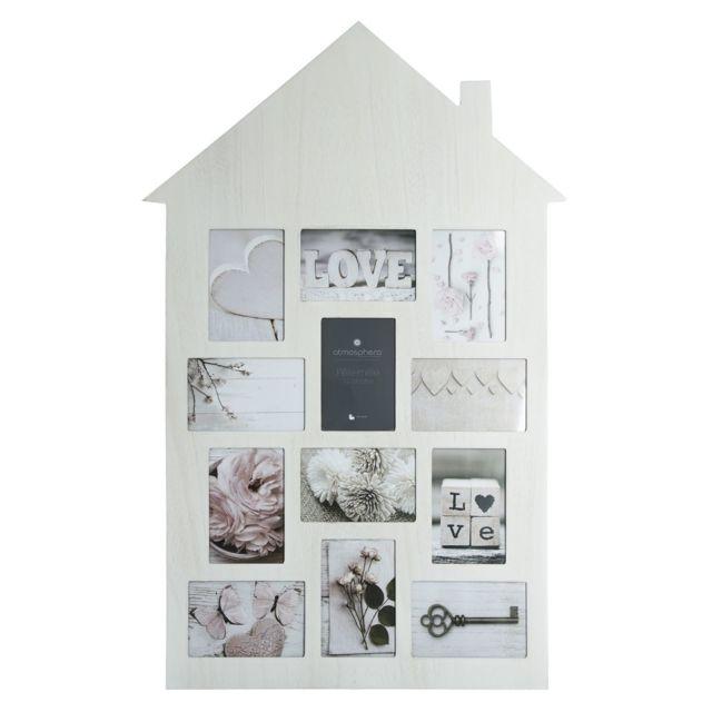 Atmosphera, Createur D'INTERIE Pêle-mêle maison Patine - 12 Photos - Blanc