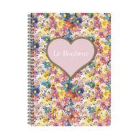Les Cakes De Bertrand - Cahier Spirales A4 - 148 pages Lignées Coeur Le Bonheur