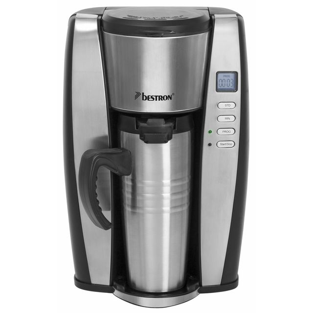 BESTRON Cafetière programmable 650W thermos inox