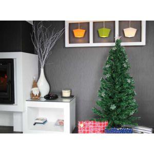 jardideco sapin de noel artificiel vert fibre optique 150 cm pas cher achat vente sapin de. Black Bedroom Furniture Sets. Home Design Ideas