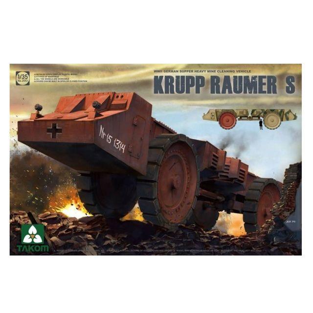 Takom Maquette véhicule militaire : Krupp Raumer S - Véhicule de déminage allemand