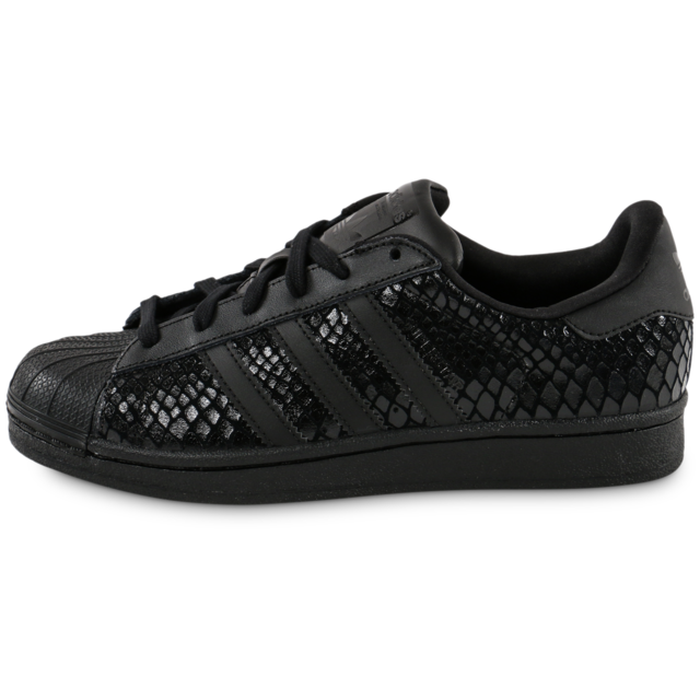 Adidas originals - Superstar Snake Triple Noire - Tennis Femme