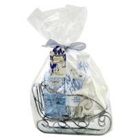 Coffret cadeau de Noël coffret de bain au parfum léger de fleurs de coton - 3pcs