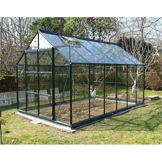 Chalet jardin linda 88 serre de jardin 8 88 m pas cher achat vente serres en verre - Serre de jardin carrefour ...