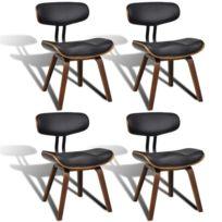 Vidaxl - Chaise de salle à manger 4 pcs avec dossier Cuir synthétique    Multicolore c886b99d0e00