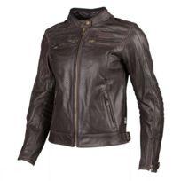 Blouson cuir moto femme d'occasion
