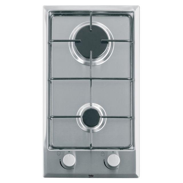 Beko Hdcg 32220 Sx - Table de cuisson encastrable - 2 foyers à gaz