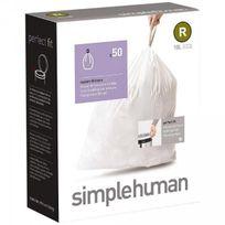Simplehuman - Lot de 50 sacs poubelle R 10 L