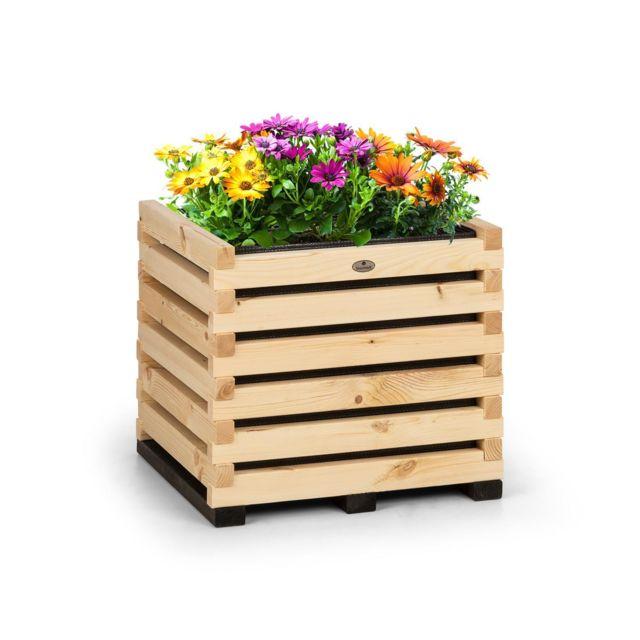 BLUMFELDT Modu Grow 50 Carré potager surélevé 112 litres , 50 x 50 x 45 cm , bois de pin massif