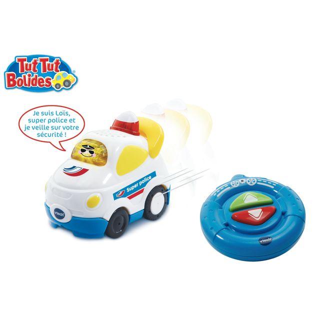 VTECH Tut Tut Bolides - Loïs super police télécommandé -180365 Un véhicule interactif Tut Tut avec fonction télécommande !
