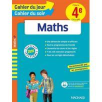 Magnard - Cahiers Du Jour/ Soir ; Maths ; Cycle 4 ; 4ème ; 13-14 Ans Nouveaux Programmes 2016