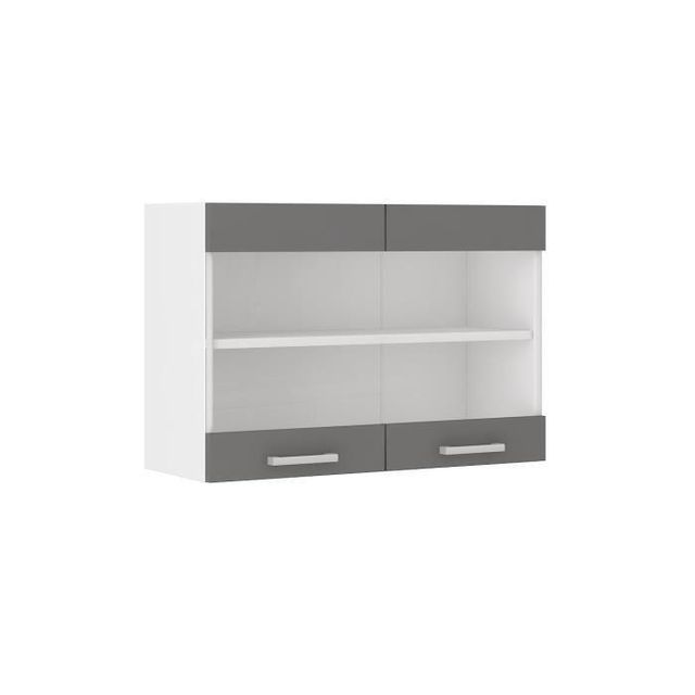 Ze-shop - Ultra Meuble haut de cuisine 80 cm - Gris - pas cher Achat ...