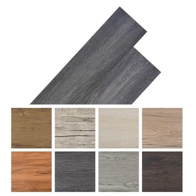 Vidaxl Planche de plancher Pvc autoadhésif 36 pcs 5,02 m² Noir   Noir