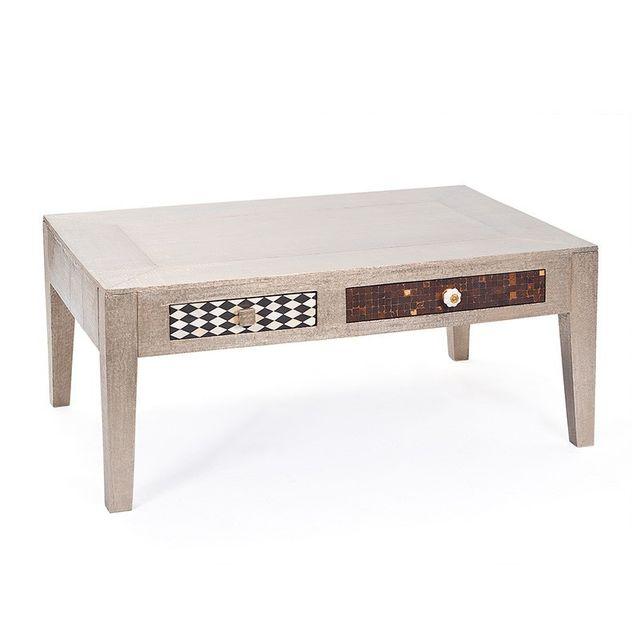 Paris Prix Table Basse Design Bois Massif \