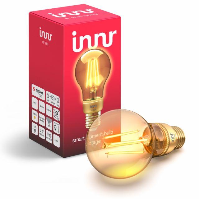 INNR - Ampoule connectée E27 - ZigBee 3.0 - Vintage Filament