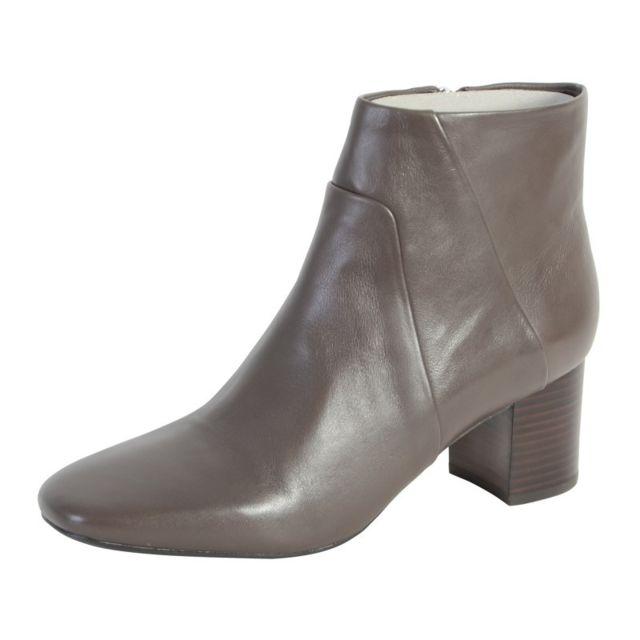 7b8390805eb827 Geox - Bottine Symphony Chestnut - pas cher Achat / Vente Boots femme -  RueDuCommerce