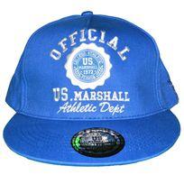 Us Marshall - Casquette Snapback - Taille Réglable - Bleu Royal Royal