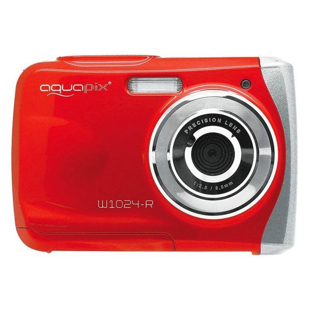 aquapix appareil photo tanche w1024 splash rouge pas cher achat vente appareil compact. Black Bedroom Furniture Sets. Home Design Ideas