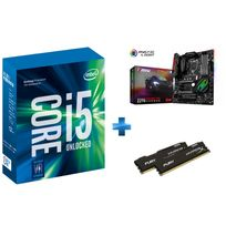 INTEL - Processeur Core i5-7600K 3.80GHz LGA1151 - KABYLAKE + Carte mère MSI Z270 GAMING PRO CARBON Socket 1151 - Chipset Z270 Kabylake + HyperX Fury 8 Go 2 x 4 Go DDR4 2133 MHz Cas 14