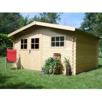 Habitat et Jardin - Abri de jardin - 17,47 m² - 4.11 x 4.25 x 2.32 - 28 mm