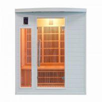 France Sauna - Sauna Infrarouge Soleil Blanc - 3 Places