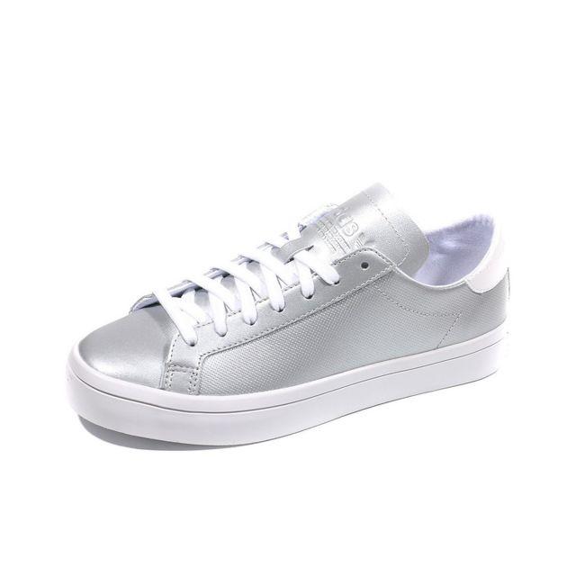 Adidas Chaussures Court Vantage Argent Femme Gris 40 23