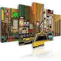 Bimago - Tableau - Rues de New York dans la B. D