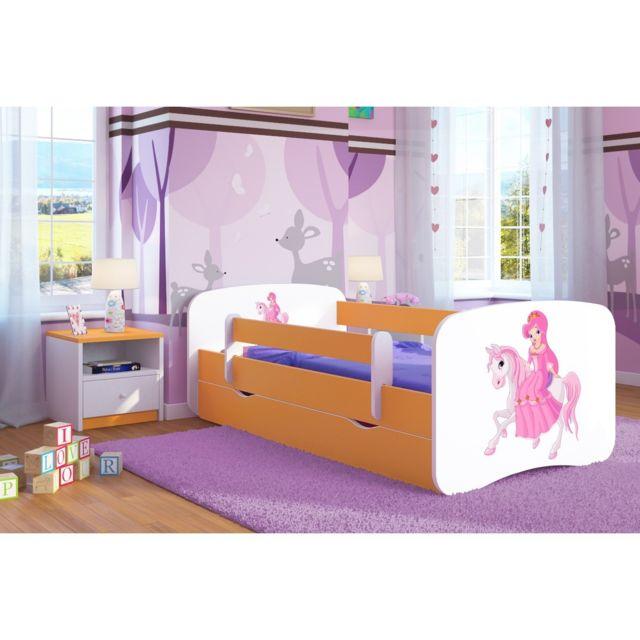 carellia lit enfant princesse sur son cheval 80 cm x 160 cm avec - Lit De Princesse