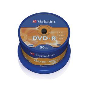 VERBATIM - Lot de 50 DVD-R vierges 4.7 Go - certifiés 16X