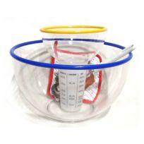 Générique - Saladierplastique30cm+ 4accessoresCrepe