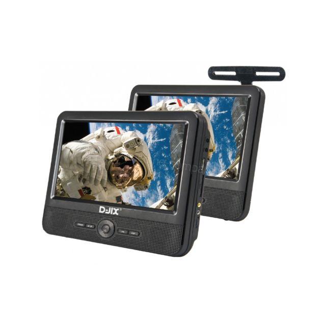 djix lecteur dvd portable 9 double cran d jix pvs906. Black Bedroom Furniture Sets. Home Design Ideas