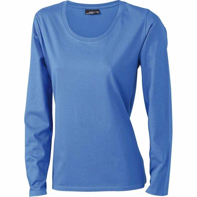 c51b74269255d James   Nicholson - T-shirt femme manches longues - Jn903 - Bleu Roi - pas  cher Achat   Vente Tee-shirts, tops - RueDuCommerce
