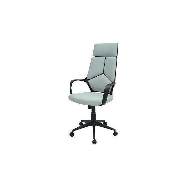 Fauteuil de bureau inclinable et réglable gris et noir