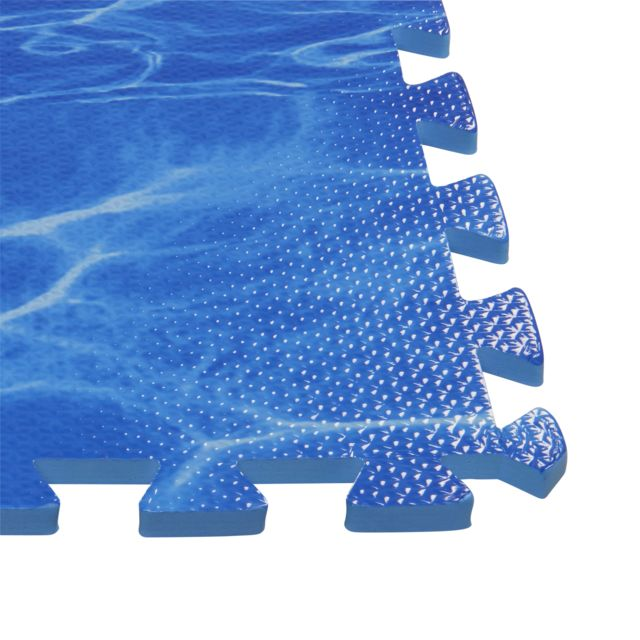 CARREFOUR Lot de 4 tapis de sol bleu - 81 x 81 cm - 2,62 m² Vous cherchez de nouvelle solution de dallage pour votre extérieur ? Voici une solution facile à poser et qui vous simplifiera la vie.
