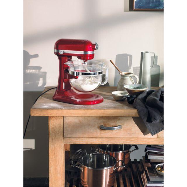 Kitchenaid robot multifonction de 6,9L 500W rouge empire argent