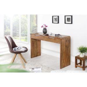 chloe design bureau en bois guona bois fonc 120cm x 80cm x 40cm pas cher achat vente. Black Bedroom Furniture Sets. Home Design Ideas