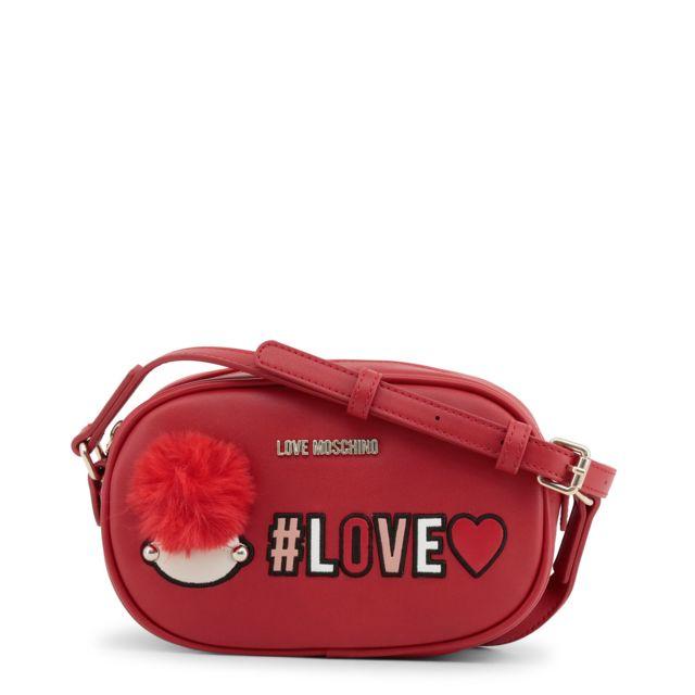 0d43516096 Buzzao - Pochette à bandoulière femme rouge Love Moschino - pas cher ...