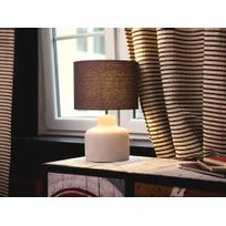 Beliani - Lampe à poser - Lampe de chevet - éclairage - gris - Bhima