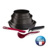 Tefal - Ingenio Pierre Hardica Batterie de cuisine 8 pieces Yy2959FA 16-18-22-24-28cm Tous feux dont induction