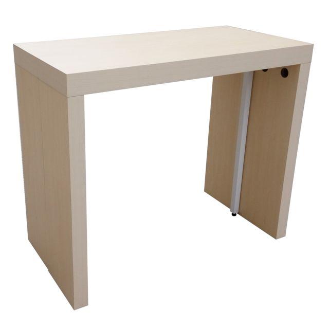 Carrefour Table Console Extensible N 110 3 Bois 90cm X 45cm X