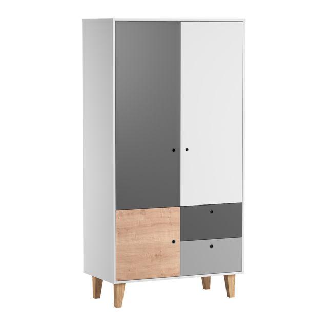 Vox Armoire 2 portes Concept - Bois